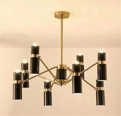 Nordic żyrandole 6/8 stóp nowość G9 podłużna lampa sklep europa jadalnia sypialnia wiszące zdobione oprawa oświetleniowa G9 LED żarówka