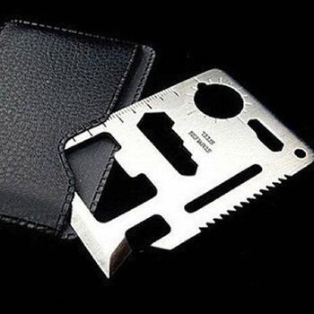 Hot Sale Outdoor Survivin Knife Camping Multipurpose Tool 11 in 1 Mini Multifunction Card Pocket Survival