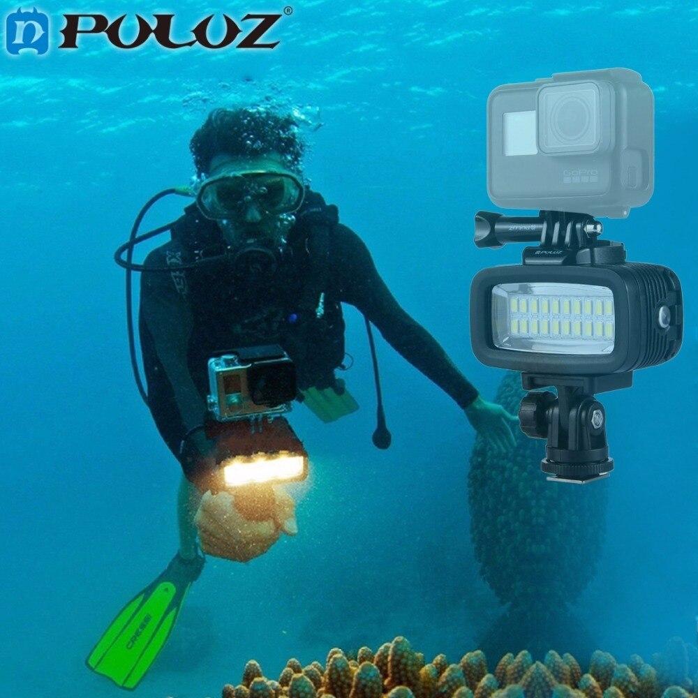 PULUZ Photo Underwater Diving Waterproof LED Flash Video Light Mount W/h Hot Shoe Base Adapter for GoPro Hero 4/3SJCAM Xiaomi Yi