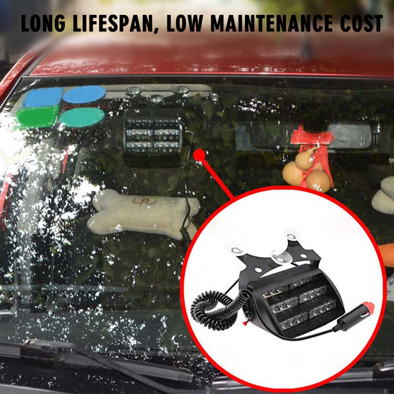 CARLitek автомобильные аксессуары стробоскоп полицейский фонарь запчасти светодиодная вспышка лобовое стекло аварийные предупредительные огни предупреждающий туман лампа 12 В