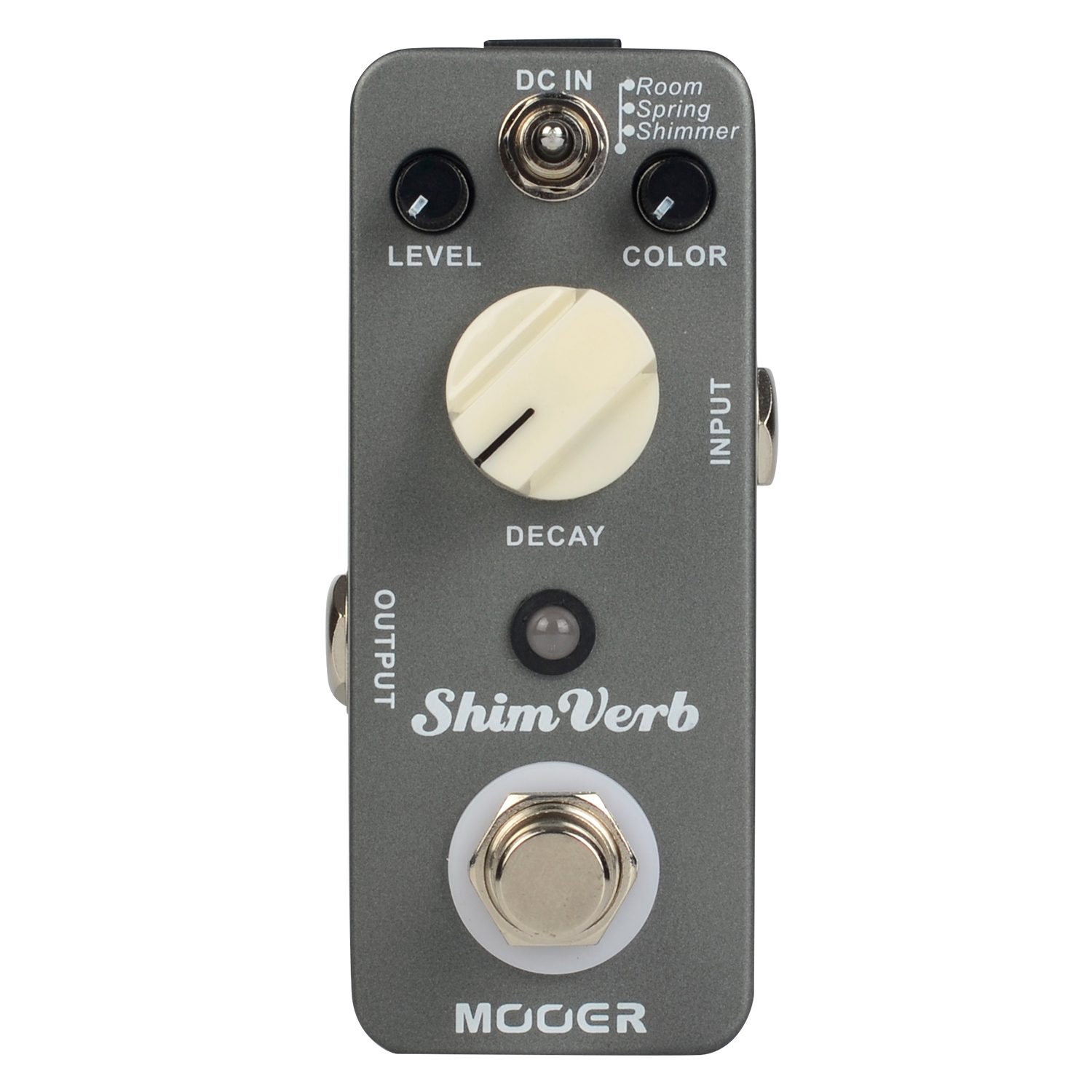 Mooer Shim Verb Digital Reverb Guitar Pedal Effect Pedal True Bypass Full Metal Shell MRV1 joyo jf 317 space verb digital reverb mini electric guitar effect pedal with knob guard true bypass
