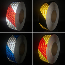 5cmx10m  Safety Mark Reflective tape stickers car-styling Self Adhesive Warning Tape Automobiles Motorcycle Reflective Film цена