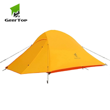 GeerTop Two Person 4 Season Outdoor Camping Tent Ultralight Waterproof Dome Tents Tourist Awning for Hiking Tourist 2 Places цена