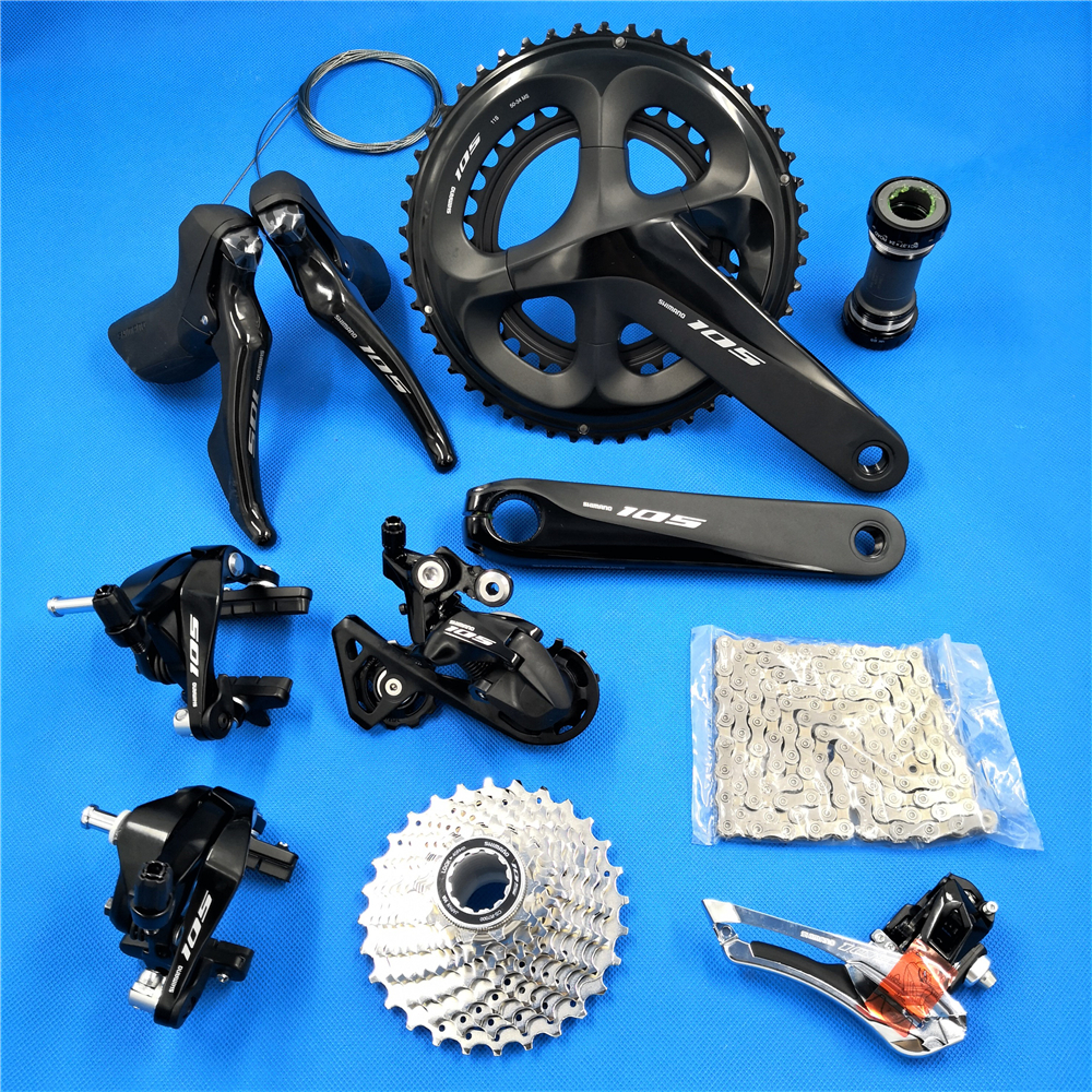 Shimano 105 R7000 2x11speed 170/172.5/175mm 50-34T 52-36T 53-39T Road bike bicycle kit groupset 11-25/28/30/32/34T