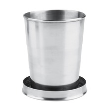 8oz 240ml Stainless Steel Portable Folding Telescopic Collapsible Outdoor Cup  tableware