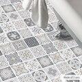 Funlife Европейский водонепроницаемый имитация плитки наклейки на стену Ретро ванная комната ПВХ пол стикер DIY домашний декор художественная ...