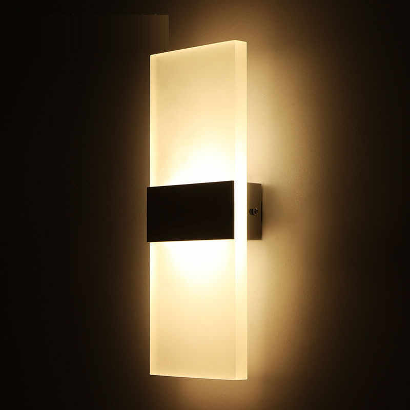 LED Acrylic Wall Lamp Wall Mounted Bedroom Lights Decorative Living Room  Stair Corridor Sconce wall lights Cold / warm White