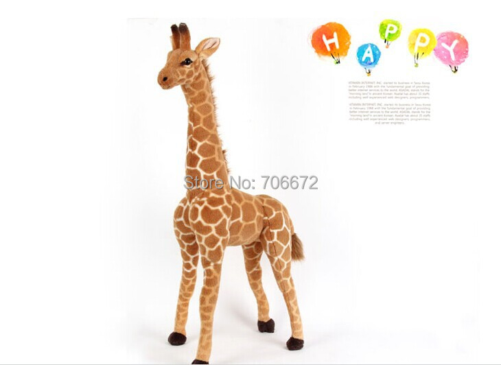 stuffed animal lovely giraffe plush toy about 95cm simulation giraffe doll birthday gift t9684 simulation animal huge tiger doll about 110x 70cm plush toy high quality birthday gift christmas gift t3442