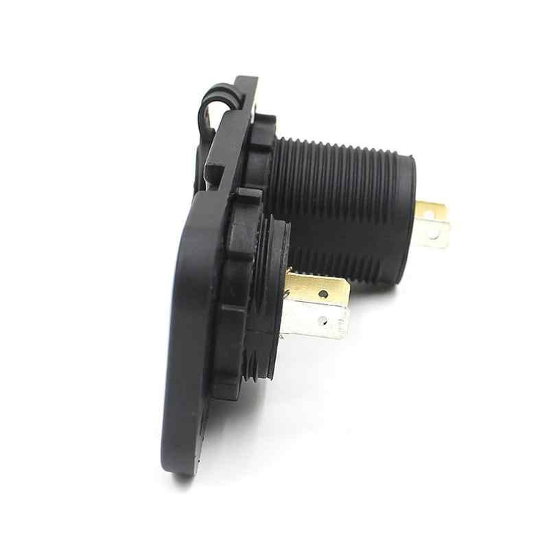CS-247 2 en 1 impermeable 12-24 V coche motocicleta barco Dual USB 3.1A cargador adaptador de corriente LED voltímetro Digital toma Combo