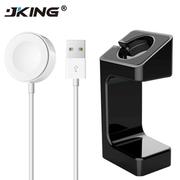JKING 1Set For Apple Watch Dock Charger 1m Magnetic Wireless Charging USB Cable Adapter Charger for Apple Watch 2 3 38mm42mm dock connector to usb cable