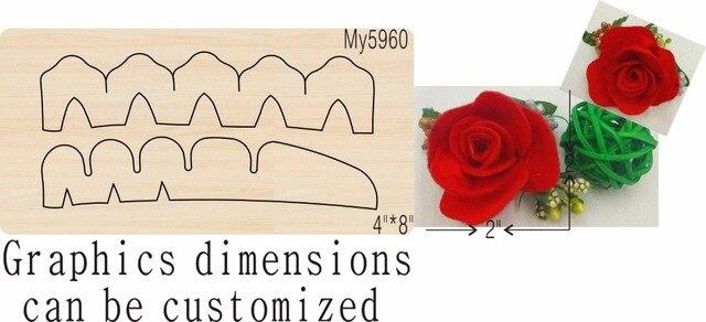 Форма для скрапбукинга «Небесный цветок» 3 дюйма, детская деревянная форма и деревянные штампы для скрапбукинга, подходит для моей машины