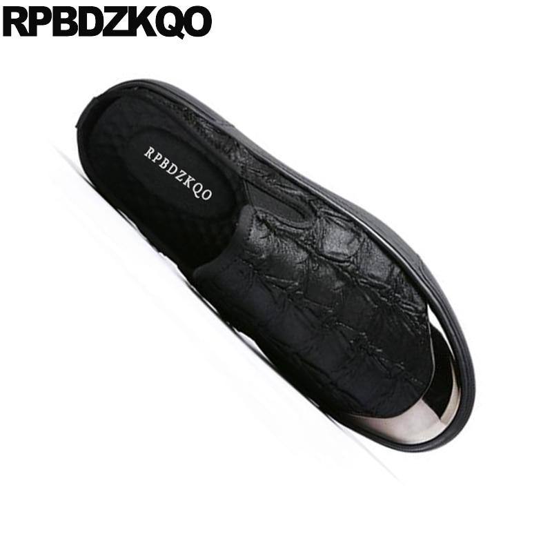 black Orteil Chaussures Haute Noir Taille Toile 1 Occasionnels Demi Sur Noir Slip Mules Qualité Luxe Skate Sandales Respirant Grande De Diapositives Métal Mode Hommes tQshCrd