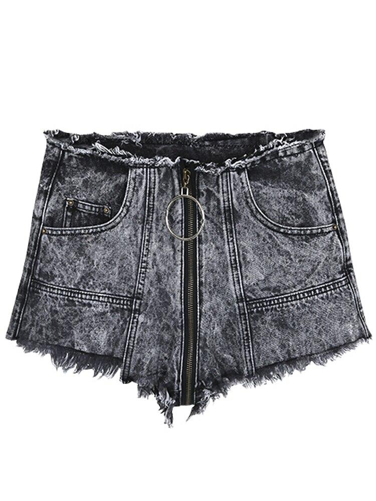 Chaude Super Nouvelle See Jeans À Flocon De Fermeture Chart Haute see Taille Court Plage European 2019 Chart American Neige Sexy Glissière Couture Shorts q7ETWpHE