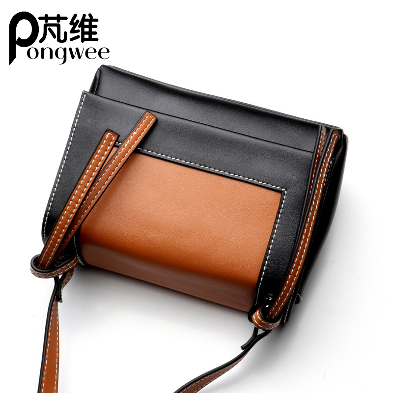 PONGWEE New Casual Small Ladies Party Purse Clutches Women Crossbody Shoulder Evening Bags High Quality Genuine Leather Handbags hongu genuine leather crossbody shoulder bags for women designer handbags high quality small square casual side purse