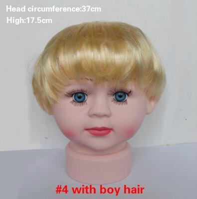 1 stks baby baby hoofd model baby boy met pruik show cap hoed - Kunsten, ambachten en naaien