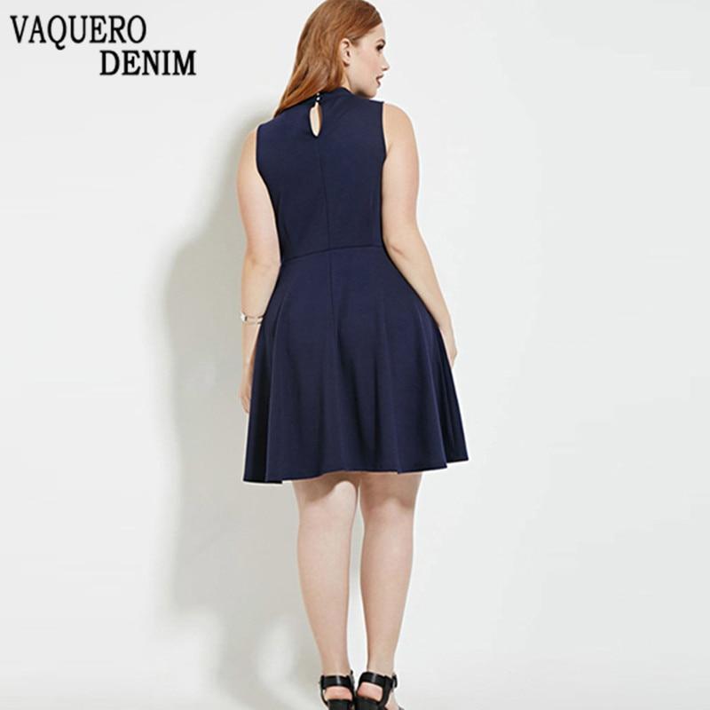 longueur Casual Grand 3xl 2016 Plus P230 Genou Grande Robes 4xl V Bleu Femmes Robe 5xl 6xl Taille Col D'été n6vH6W