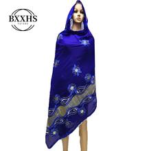 African scarf, 2019 new Muslim embroidered womens cotton beautiful and economical,cotton big size lady scarf for shawls