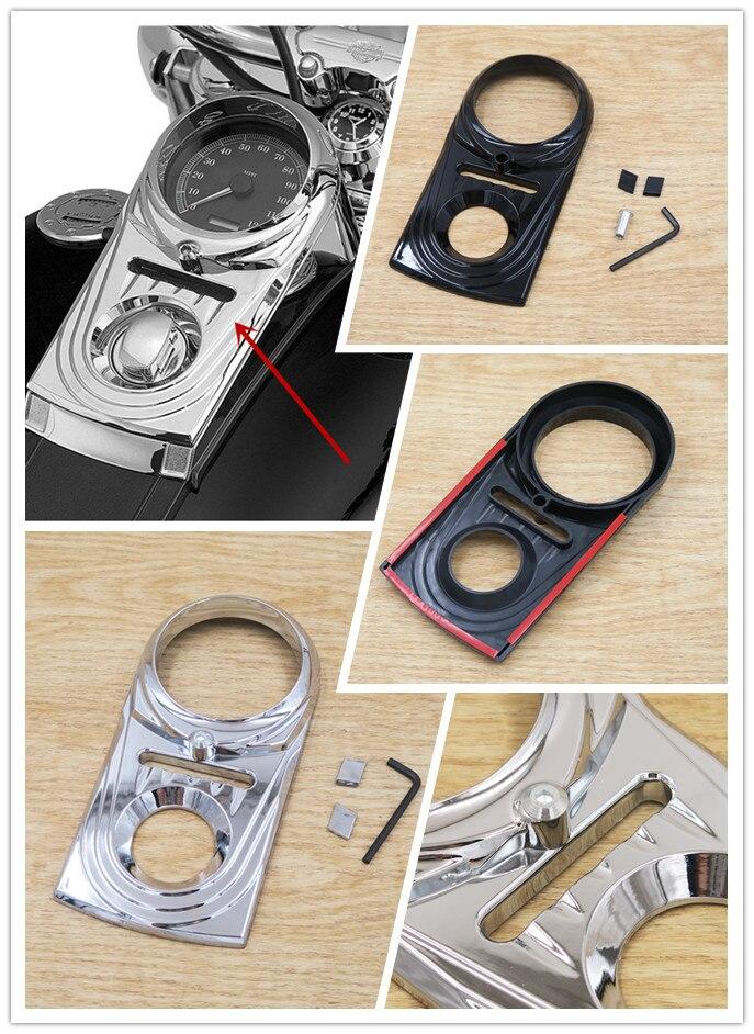 Хром и черный комбинация приборов крышки прибора крышки 1993-2015 для модели Harley FXDWG dyna с Софтейла 1522