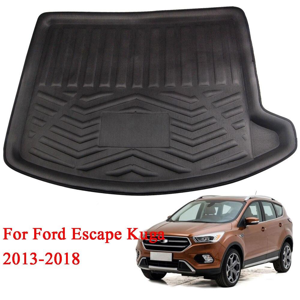 Barbecue @ FUKA 1 pz Misura In Gomma Per Ford Escape Kuga 2013-2018 di Avvio Zerbino Posteriore Tronco Liner Cargo piano Vassoio Carpet Anti-slip Accessori