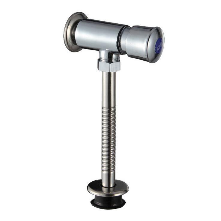 Dark outfit urinal flush valve chrome plated, Hand control WC flush valve, Copper public toilet flush valves, Free Shipping