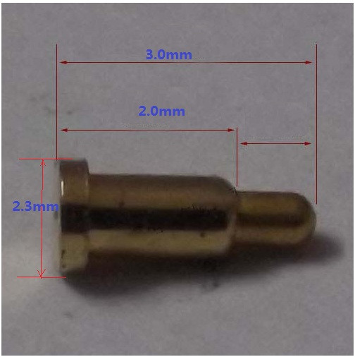 цена на 10pcs Ultra small spring loaded pogo pin connector Diameter 2.3mm 3.0mm heigth  brass material with Gold plated 1u  force 70g