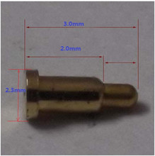 10 шт. Ultra small пружинные pogo контактный разъем Диаметром 2.3 мм 3.0 мм высота латуни с Золотым покрытием 1u силу 70 г