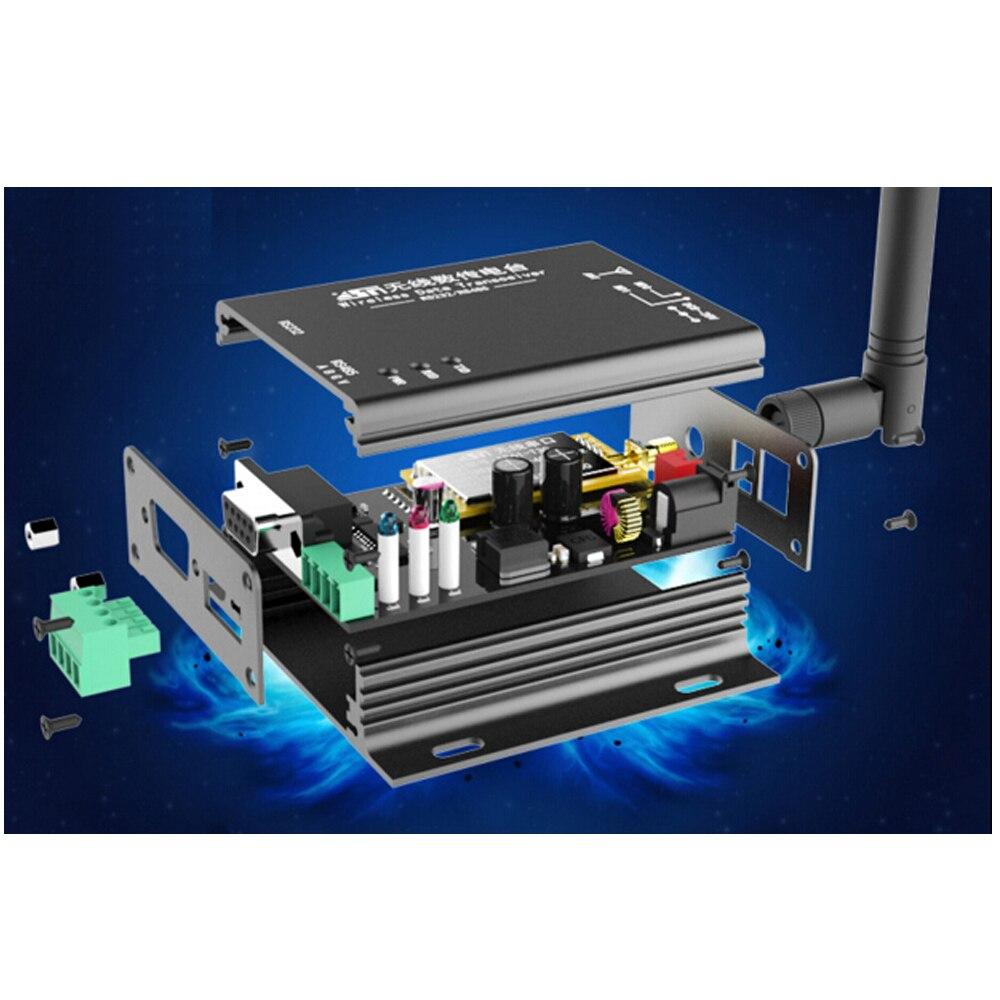 1W Wireless Module 433MHZ Wireless Data Transmission Station LORA Spread Spectrum 8000 Meters RS232RS485