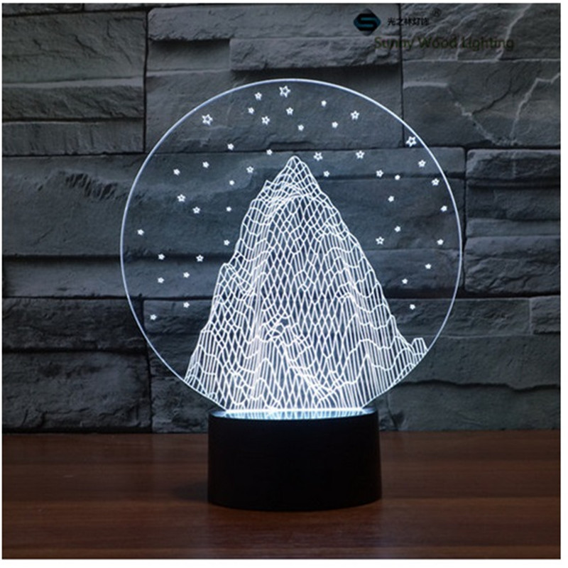 snowberg touch LED 3D lamp,Visual Illusion 7color changing 5V USB for laptop,Christmas cartoon toy lamp