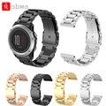 Correa de reloj de pulsera de metal de acero stailess para garmin fenix 3 electrochapa alta calidad del reloj correa de muñeca banda para fenix
