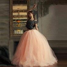 Super Puffy 7 Layers Maxi Long Skirts Womens Tulle Skirt American Apparel Wedding Ball Gown Tutu Skirts Faldas Jupe Saia