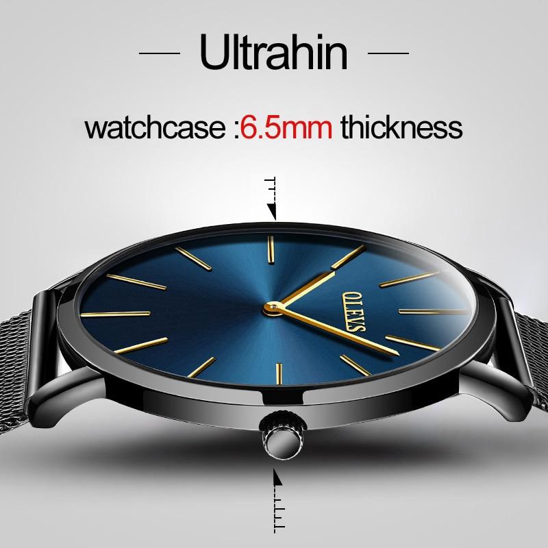 OLEVS Quartz Watch Men Top Brand Watch Waterproof Male Clocks ultra thin Clock Men Wrist Watches Gift Wristwatch relogio montre