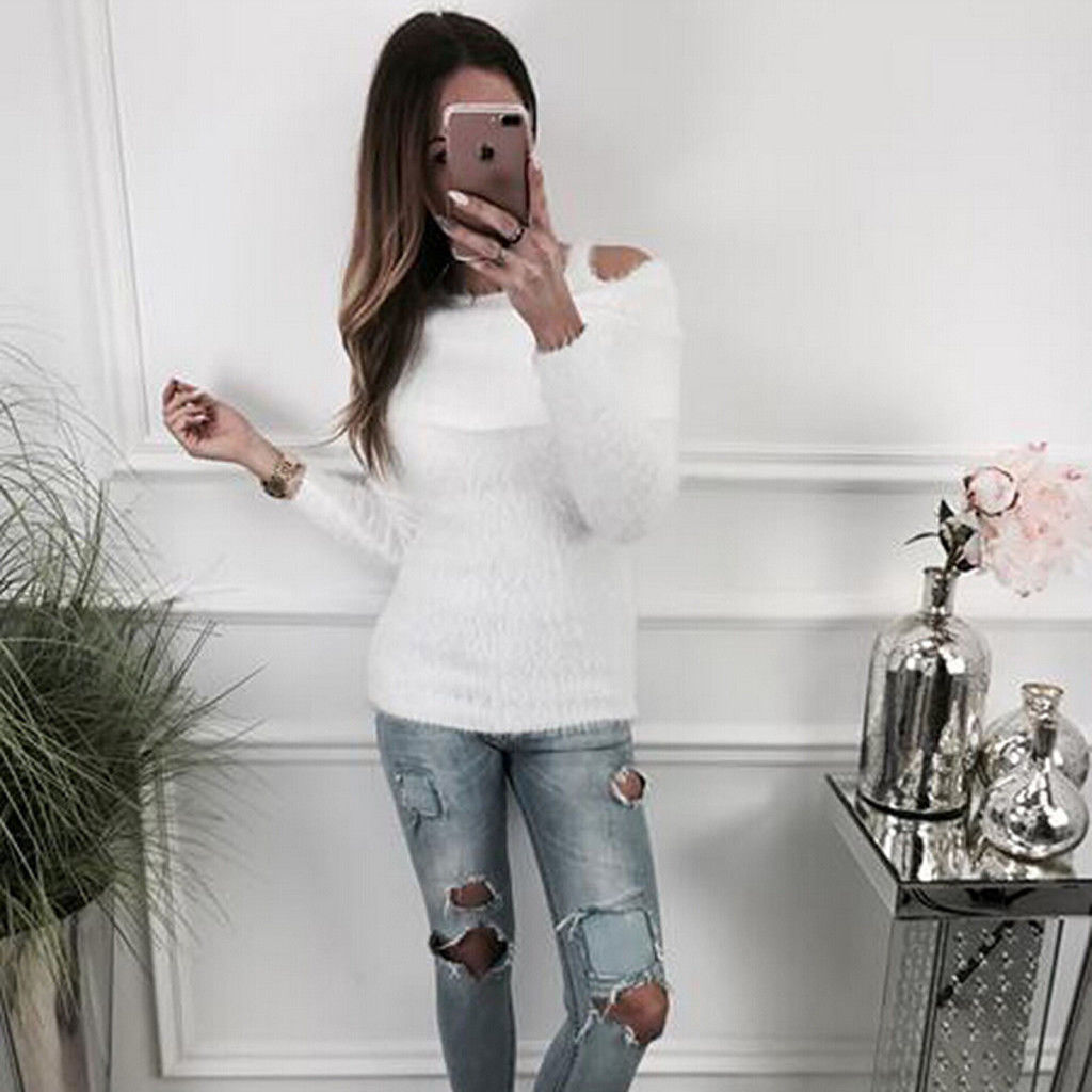 2018 New Autumn winter Women Knitted Sweaters Pullovers Turtleneck Long Sleeve Solid Color Slim Elastic Short Sweater Women