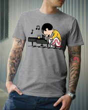 Queenuts Queens Freddie Mercury In The Style of Peanuts Men T-Shirt Grey S-3XL Print Cotton O Neck T Shirts Top Tee
