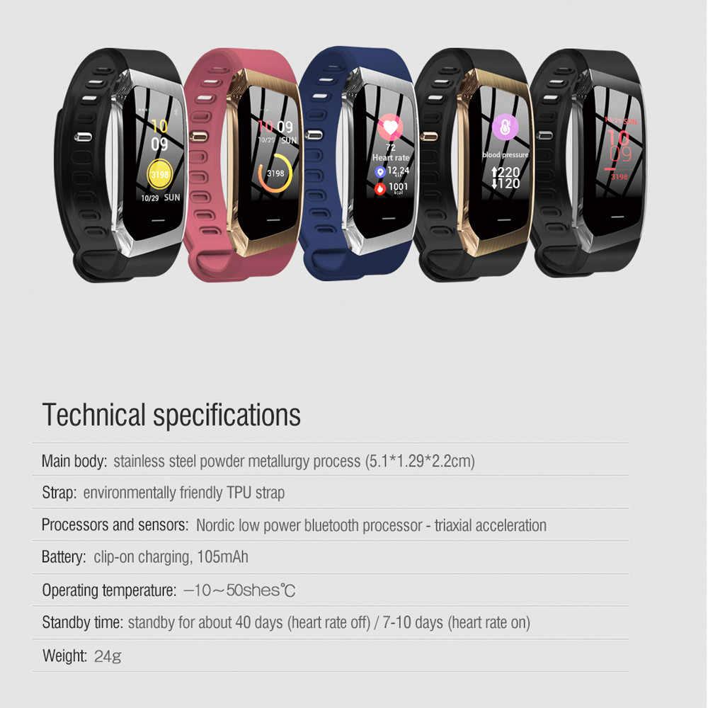 2018 smart watch E18 מידע מזכיר IP67 Class עמיד למים בריאות ניטור עמיד למים smartwatch הודעה תזכורת חיצוני