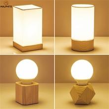 Настольная лампа из дерева в скандинавском стиле, Современная прикроватная лампа для гостиной, спальни, настольная лампа, домашний декор для детской комнаты, светильник из дерева, светильники
