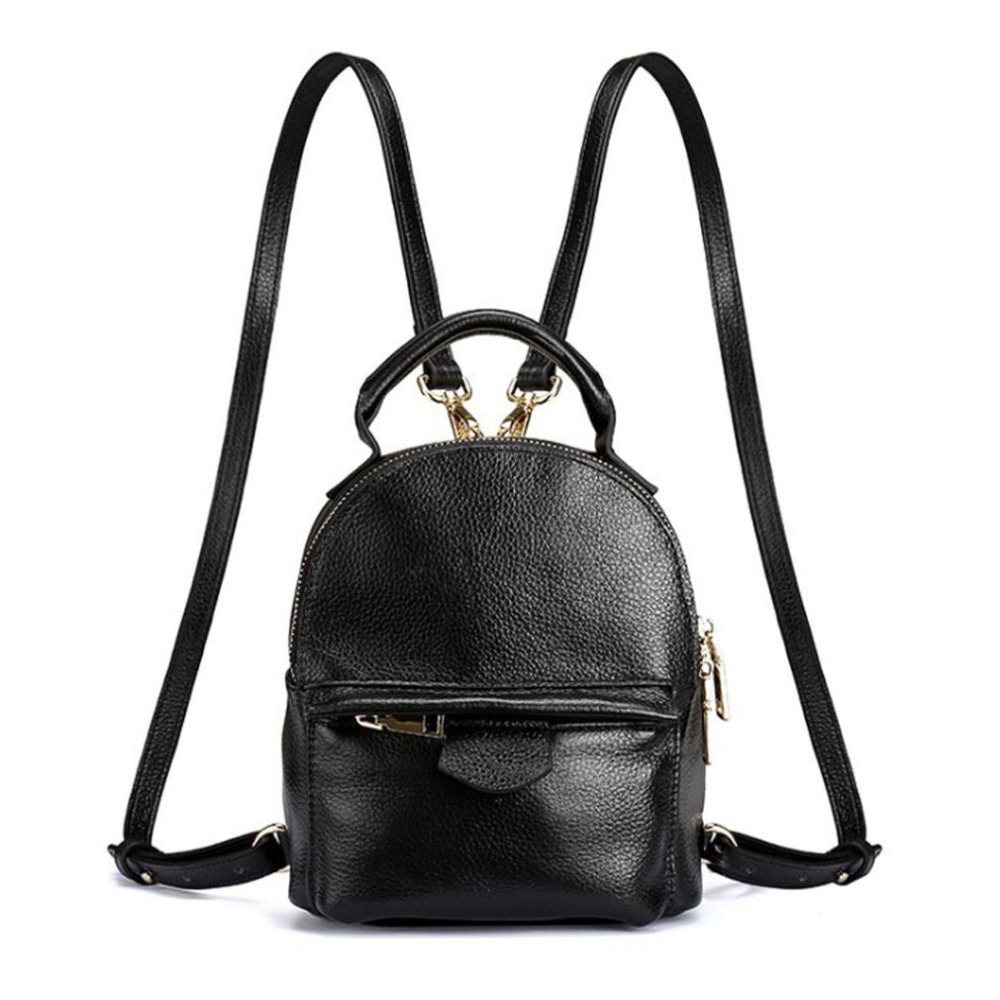 New Women Top Quality Genuine Leather Cowhide Women Ladies Korean Daypack Bag Luxury Retro Trend Female Mini Travel Backpack qiaobao 100% genuine leather handbags new network of red explosion ladle ladies bag fashion trend ladies bag