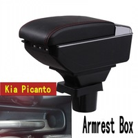 For KIA Picanto armrest box central Store content box with cup holder ashtray USB Picanto armrests box