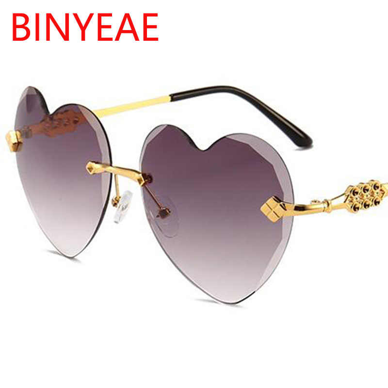 8ed3a52d0c Detail Feedback Questions about heart shaped sunglasses Woman luxury brand  2018 love heart glasses vintage transparent colorful clear lens rimless ...