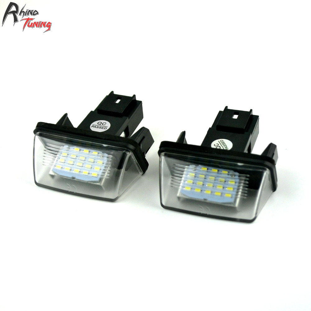 Rhino Tuning 2PC Car License Number Plate LED Light For 206 207 306 307 308 407 406 5008 C3 C5 C6 Berlingo 108 for peugeot 206 207 307 308 301 406 407 3008 new brand luxury soft pu leather car seat cover front