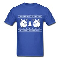 Ugly Christmas Sweater Pattern Shiba Inu Men S T Shirt