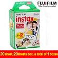 Подлинная 20 шт. пленка fujifilm instax mini 8 20 листов для камеры Мгновенных мини 7 s 25 50 s 90 Фотобумага Белый Край 3 дюймов широкий фильм