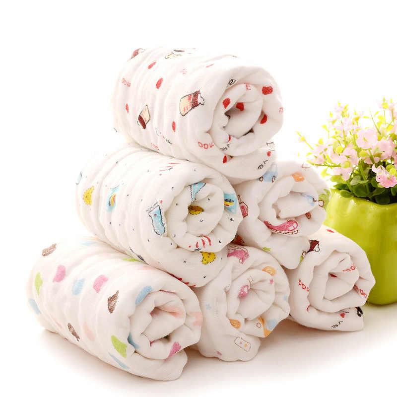 25*45 см 100% марля хлопок Детский носовой платок квадратное муслиновое полотенце хлопок младенческое полотенце для лица протрите ткань, полотенце, детские вещи