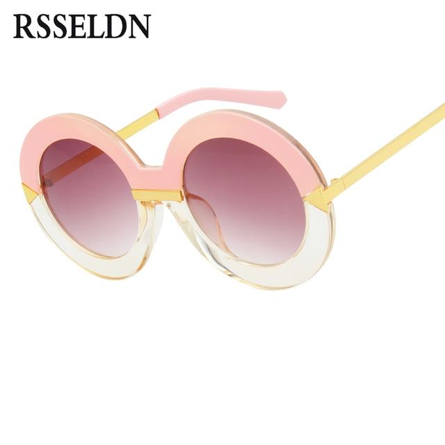 e6531a6ad8cb RSSELDN 2019 New Style Brand Women Round Sunglasses Women Famous Brands  Retro Fashion Oversize Arrow Sun Glasses Oculos UV400