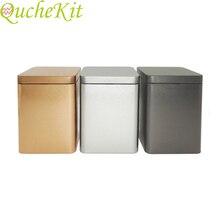 6 шт. 8*8*11 см чайные банки квадратная металлическая упаковка коробка для хранения Чехол маленькие жестяные банки еда шоколад конфеты запечатанные коробки вечерние подарочная коробка