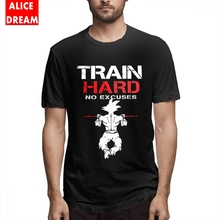 For Man Train Hard T Shirt Dragon Ball Tees Super Saiyan shirt Fashionable T-Shirt O-neck Big Size Homme Tee