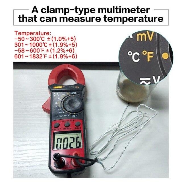 Amperimetric Clamp Multimeter Handheld Digital Meter BM5268 True RMS AC/DC Volt Amp Ohm Capacitance Frequency Temperature Diode