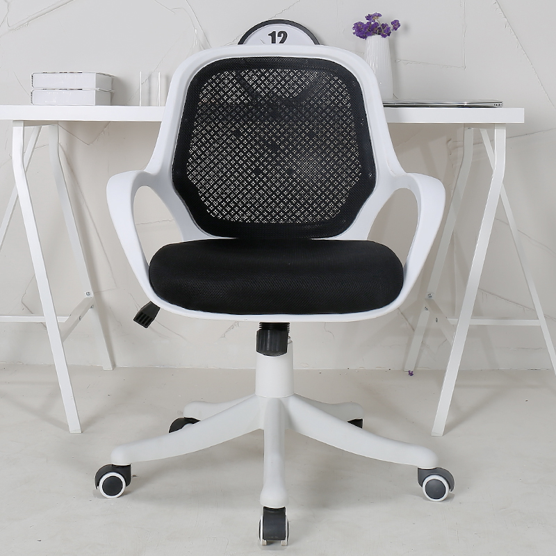 Chair Mesh Stool Desk Chairs For Teens Simple Style Office Cloth Staff Seat Lifted And Rotation Computer Household Study Room Multifunction