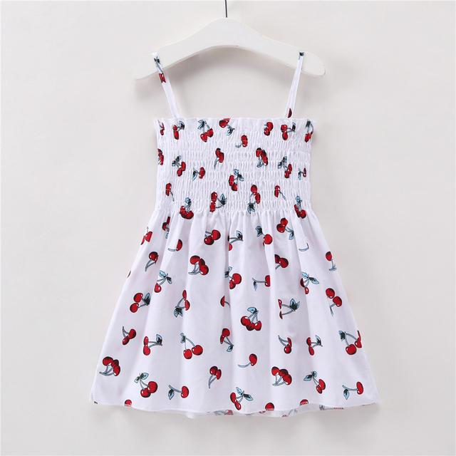 1-7 Years Girls Sleeveless Dress Baby Girl Clothes Summer Kids Cotton Princess Dress Outfit Children Print Floral Slip Dresses