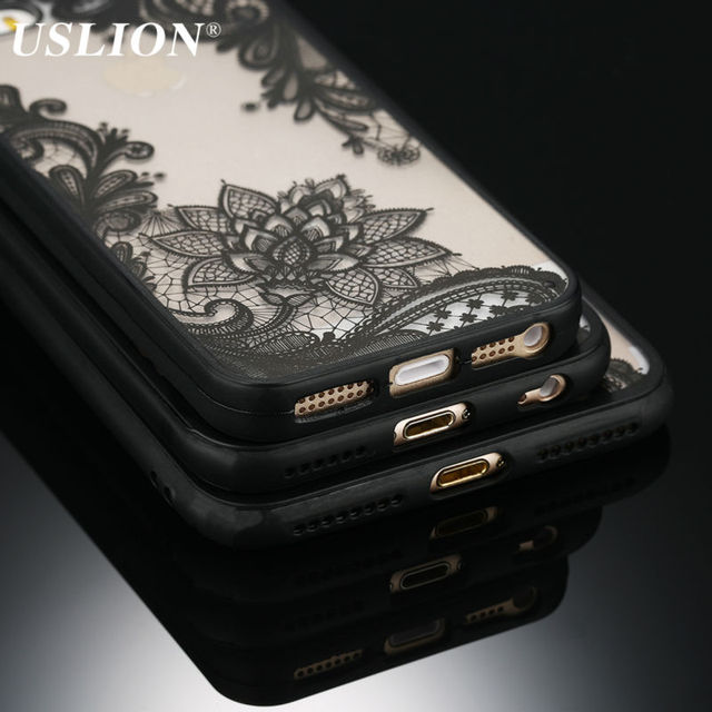 Кружевной чехол для Apple iPhone X/XR/XS Max/8/7/6/6s/5/5S/SE, USLION