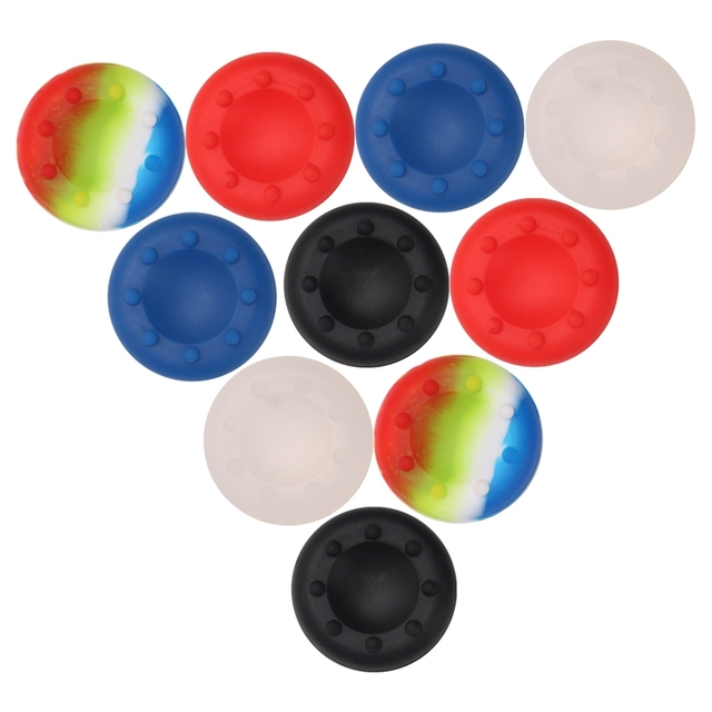 US $0 56 18% OFF|Game accessories Silicone Analog Grips Thumb stick handle  caps Cover for Sony Playstation 4 PS4 PS3 Xbox Controllers-in Replacement